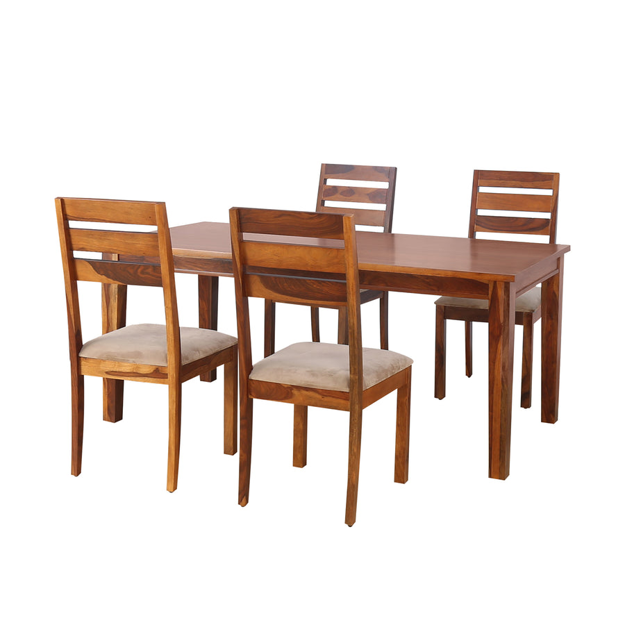 Stassy 4 Seater Dining Set (Brown)