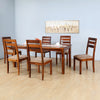 Stassy 6 Seater Dining Set (Brown)