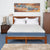 Flora Double Pillow Top 6 inch King Bed Spring Mattress (Blue)