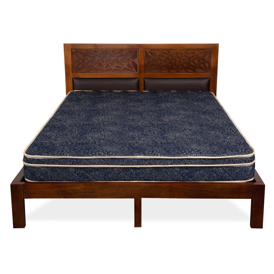 Prime Box Top 6 inch Queen Bed Coir Mattress (Blue)