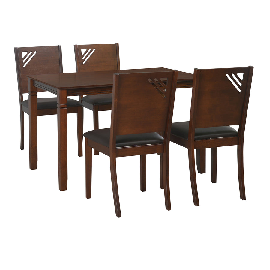 Floret 4 Seater Dining Set (Walnut)