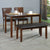 Floret 1 + 2 + Bench Dining Set (Walnut)