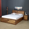 Rhody Queen Bedroom Set With Night Stand (Brown)