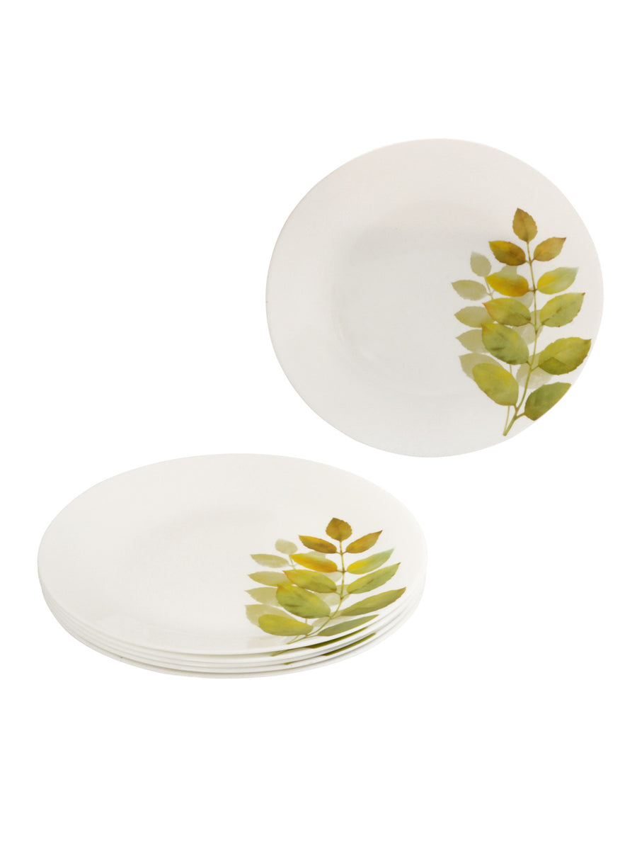 Laopala Autumn Shadow Opalware Full Plate Set of 3 (Ivory)