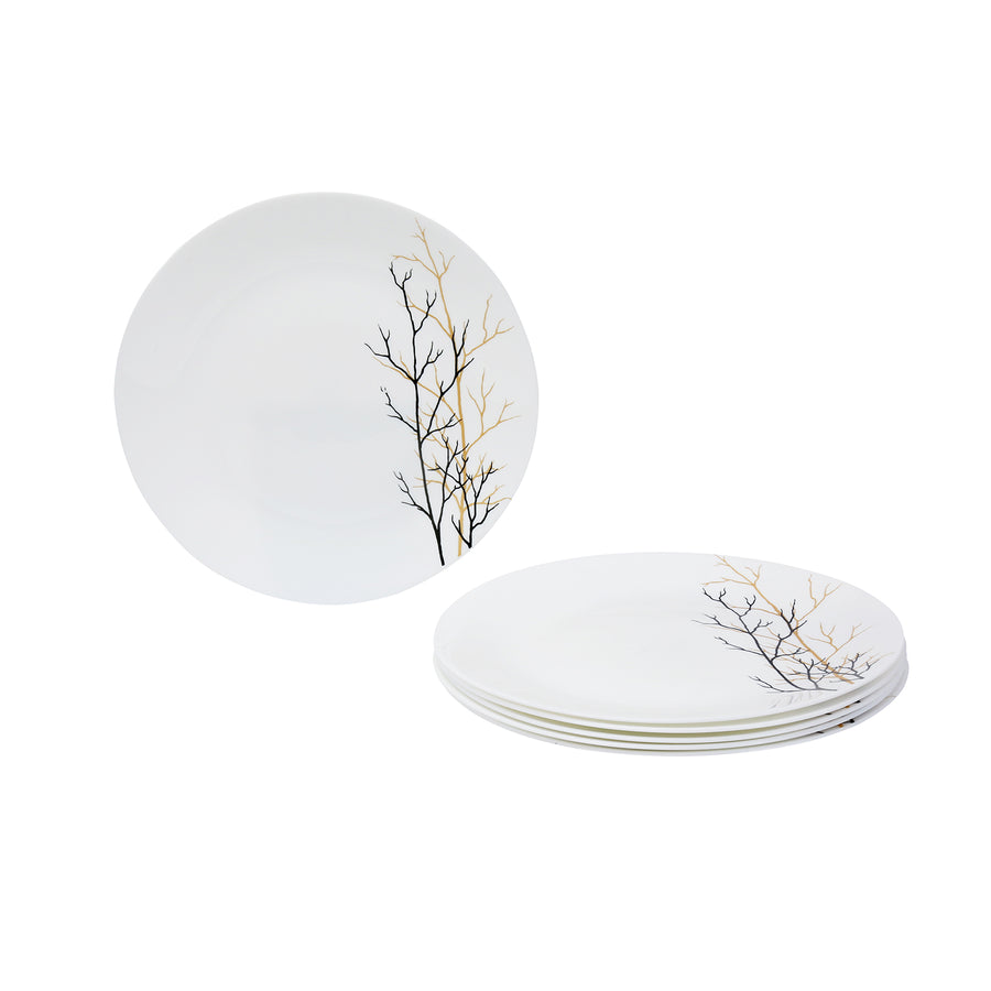 Laopala Golden Fall Opalware Full Plate Set of 3 (Ivory)
