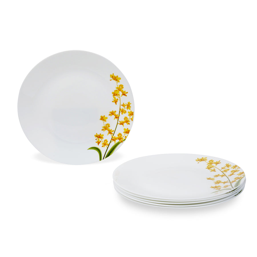 Laopala Yellow Grace Opalware Full Plate Set of 3 (Ivory)