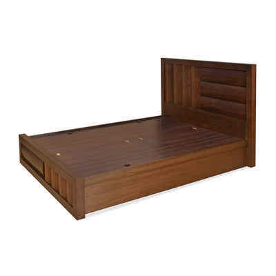 Gladiator King Bed With Storage (Brown)