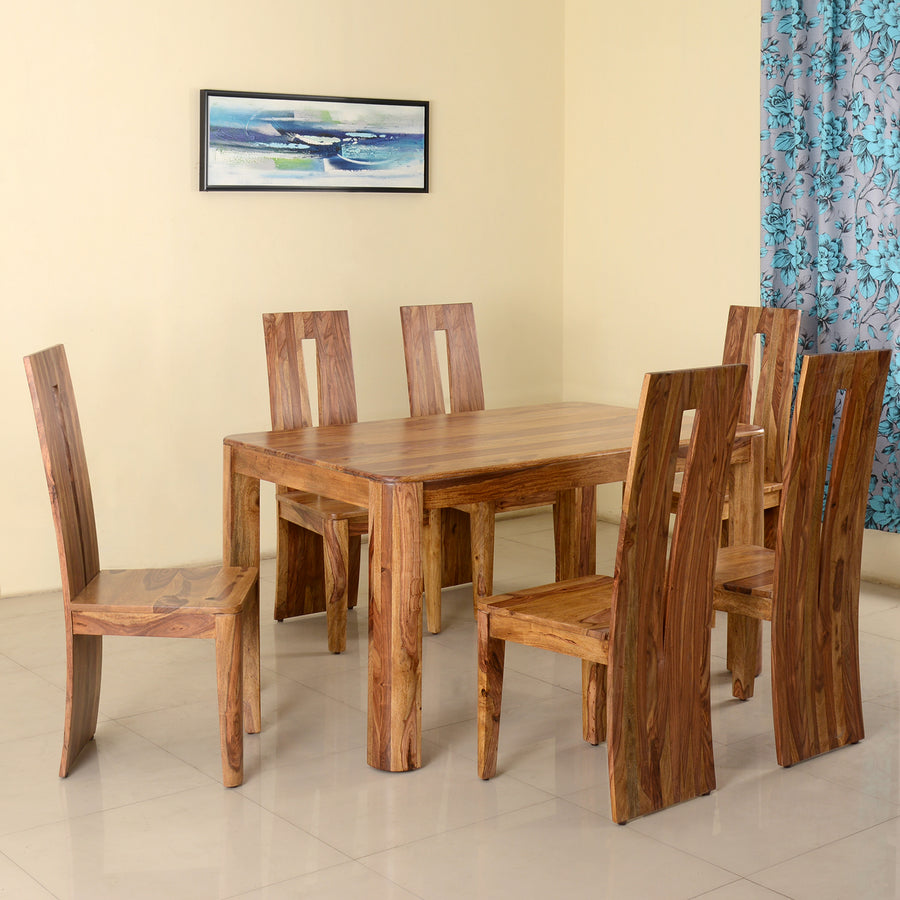 289cbaa4b New Granada 6 Seater Dining Set (Natural Walnut)