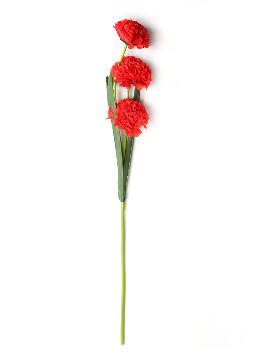 Ball Flower Artificial Stick (Red)