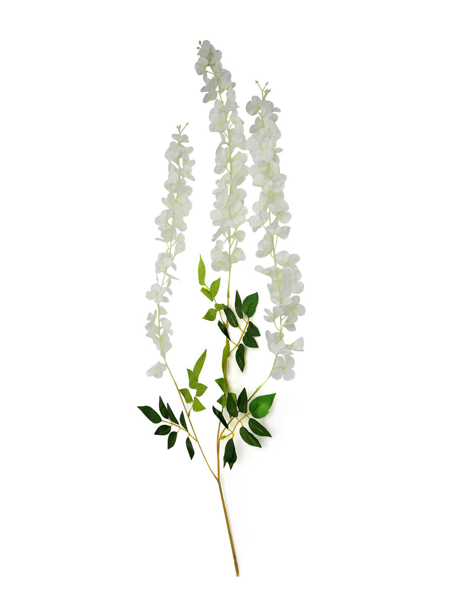 Wisteria Artificial Flower Stick (White)
