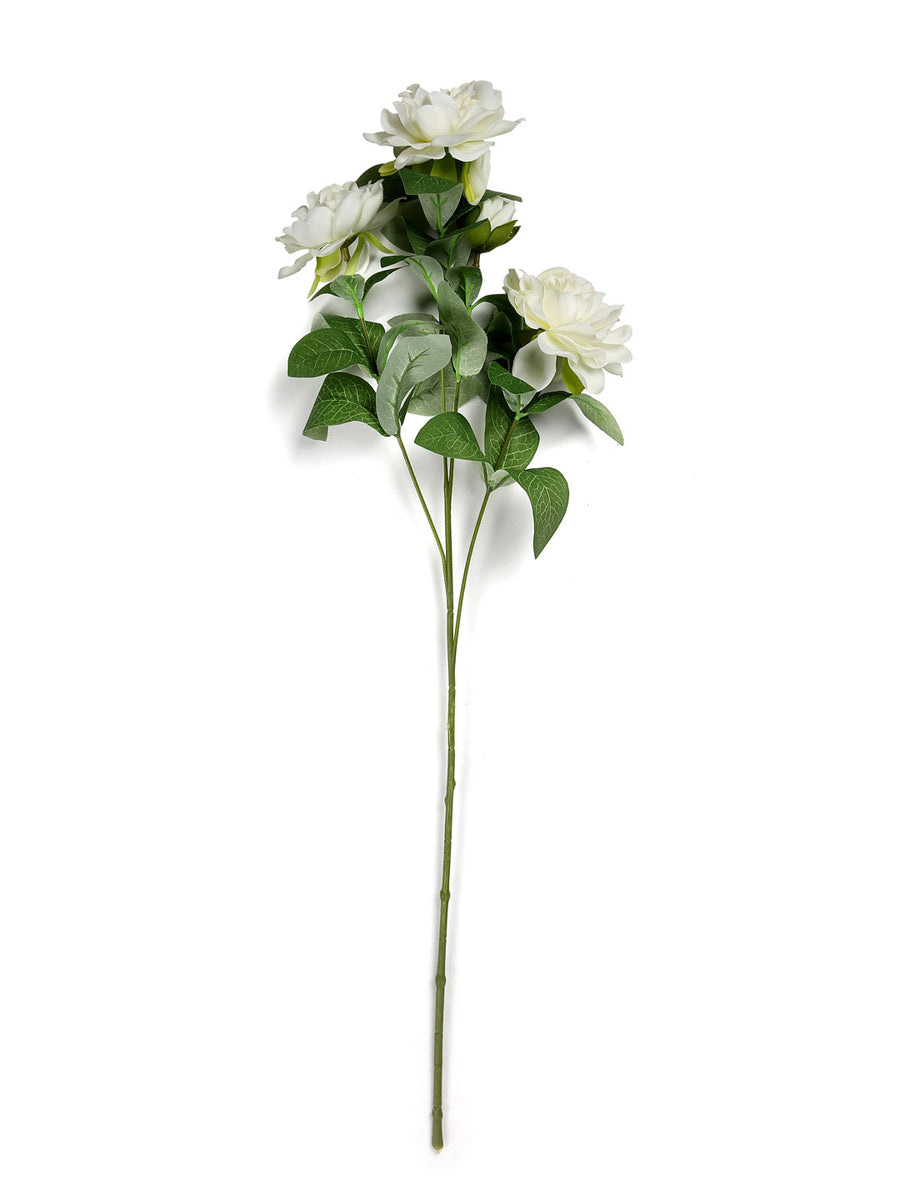 Rose Bush Artificial Stick (White)