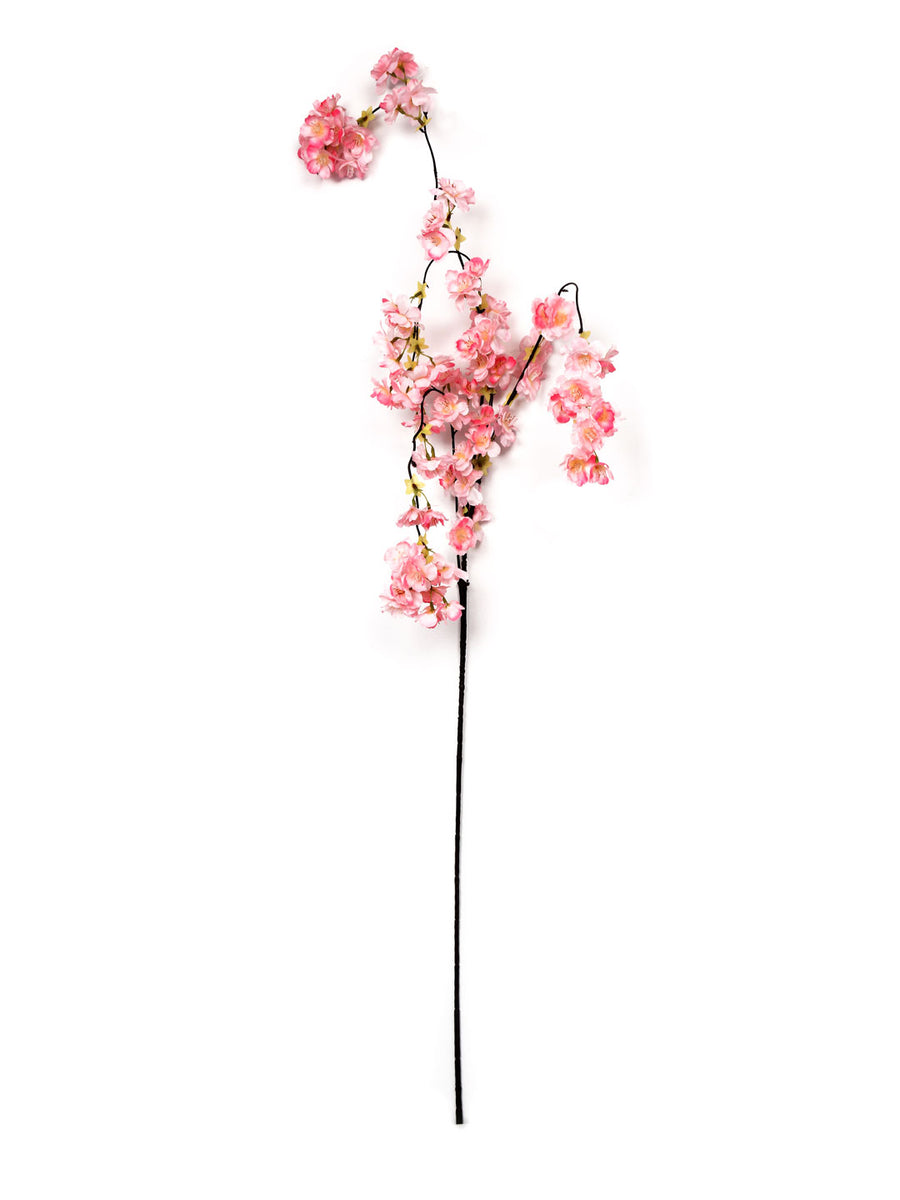 Blossom Cherry Artificial Flower Stick (Pink)