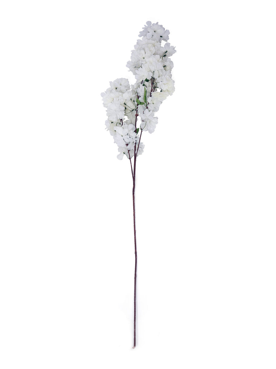 Cherry Blossom Tall Artificial Stick (White)