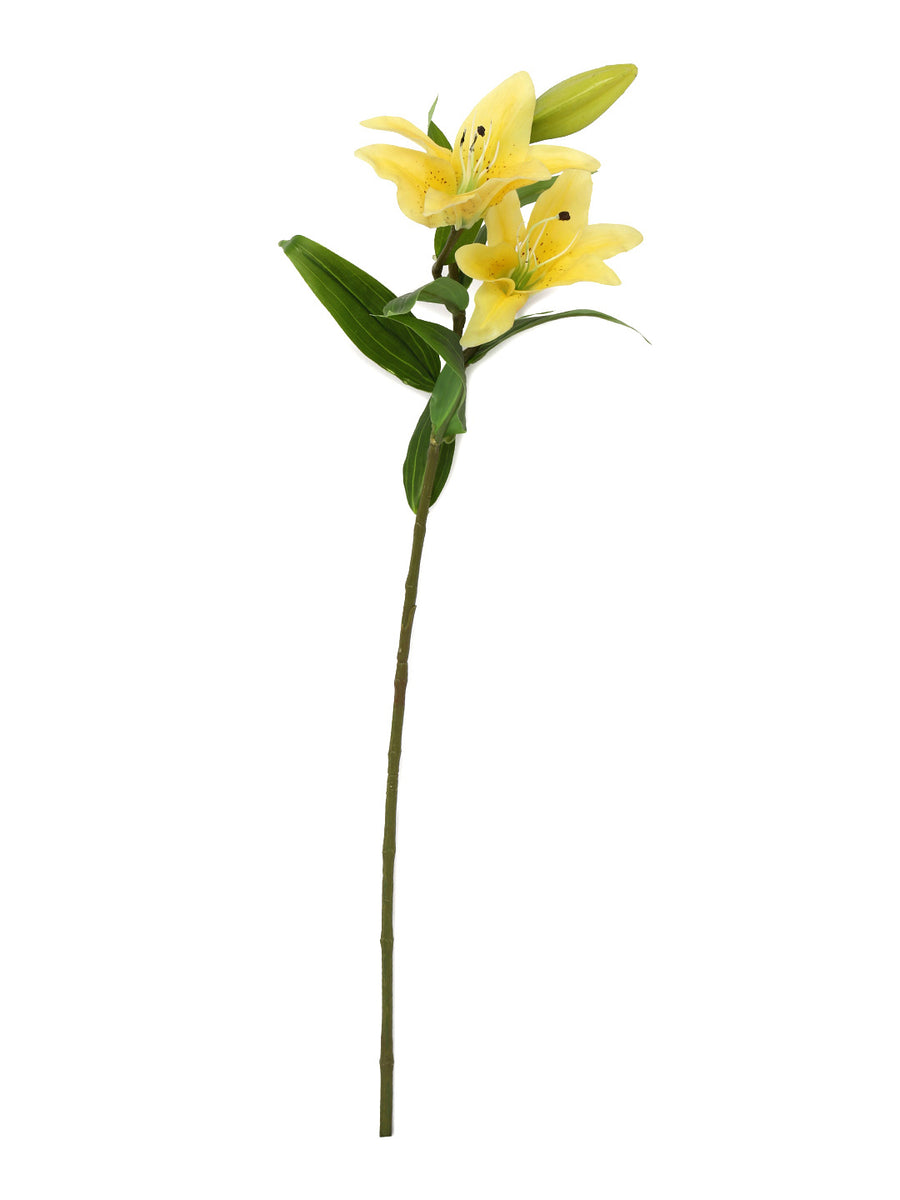 Artificial Lily Flower Stick (Yellow)