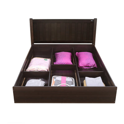 Harrier 01 King Bed with Box Storage (Wenge)