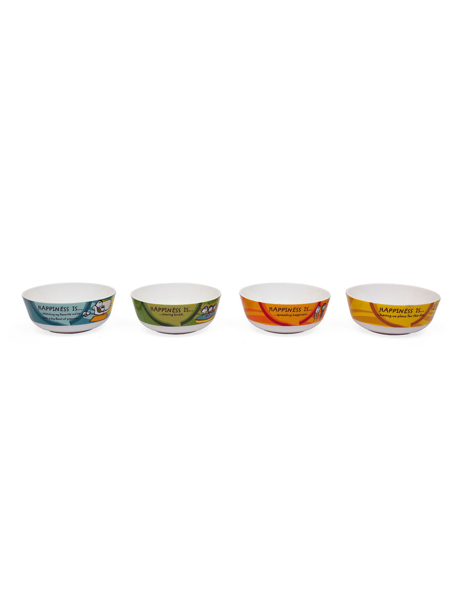 Happiness 350 ml Curry Bowl Set of 4 (White)