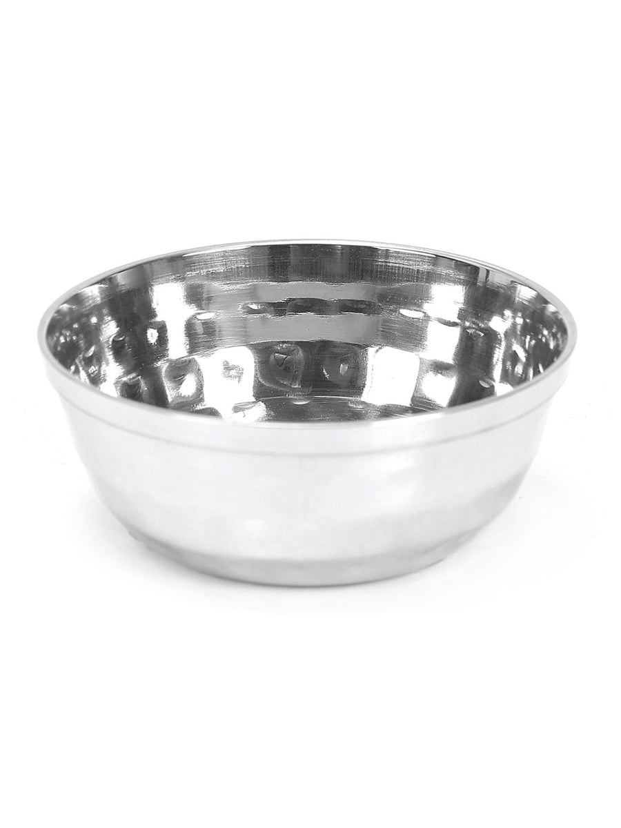 Hammered 40 ml Chatni Bowl (Silver)
