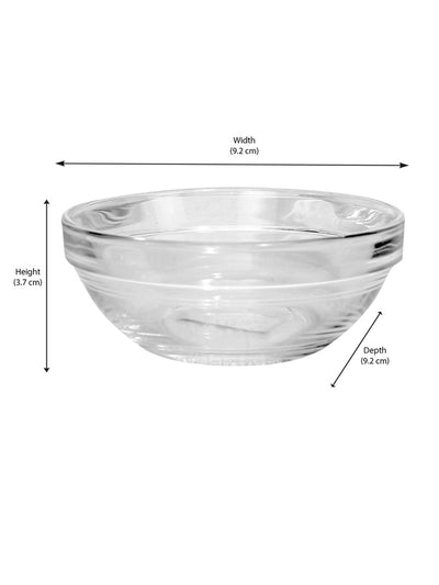 Cutney Glass Bowl Set Of 6 Piece 125ml (Transparent)