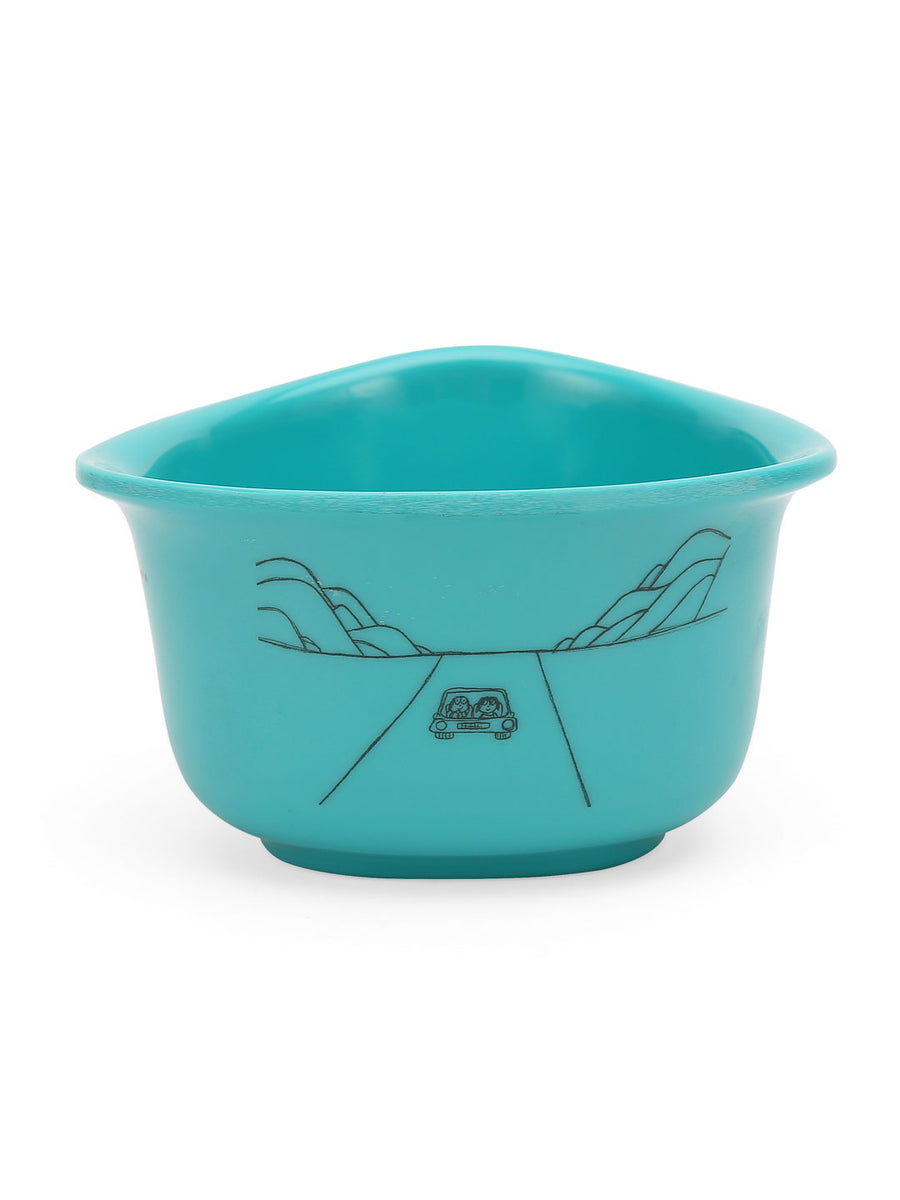 Happiness 300 ml Triangular Bowl (Sea Green)