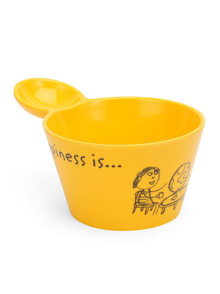 Happiness Fries Dip 500 ml Bowl (Yellow)