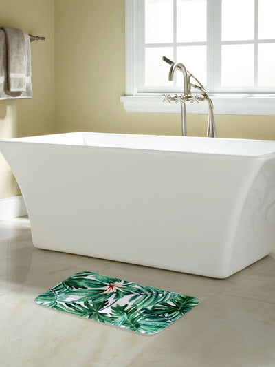 Tropical Shower and Bathmat Set (Emerald)