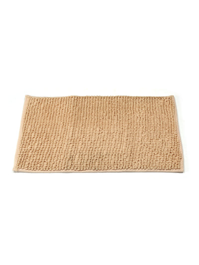 Solid Shower and Bathmat Set (Emerald & Beige)