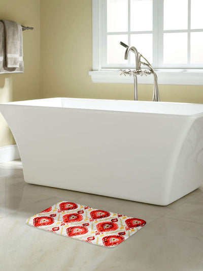 Geometric Shower and Bathmat Set (Mustard)