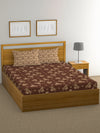 """83"" Diamond Double Bedsheet with 2 Pillow Covers (Beige)"
