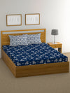 """83"" Diamond Double Bedsheet with 2 Pillow Covers (Blue)"