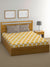 """83"" Black Shots Double Bedsheet with 2 Pillow Covers (Mustard)"