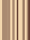 """83"" Vertical Stripes Single Bedsheet with 1 Pillow Cover (Beige)"