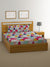 Geometric Double Bedsheet with 2 Pillow Covers (Multicolor)