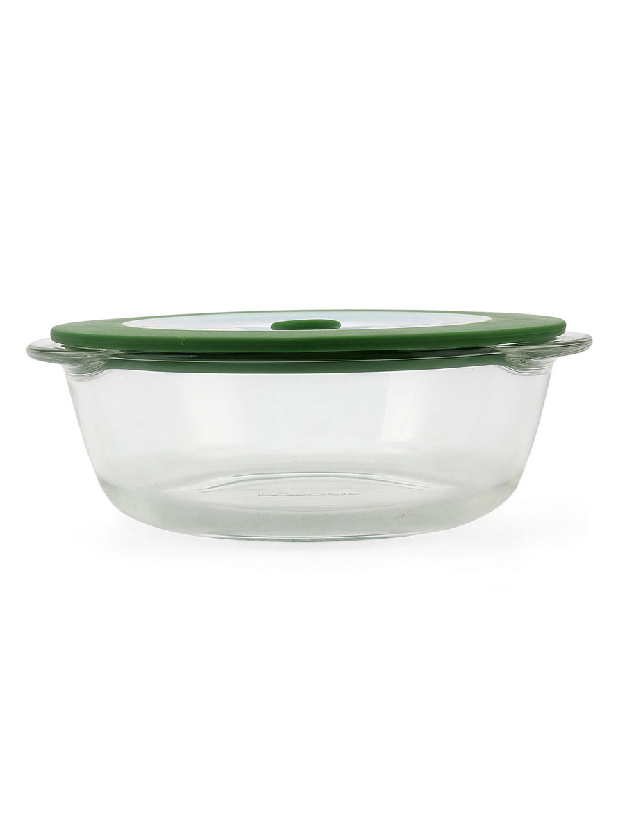 Round 1 Litre Dish with Lid (Clear)
