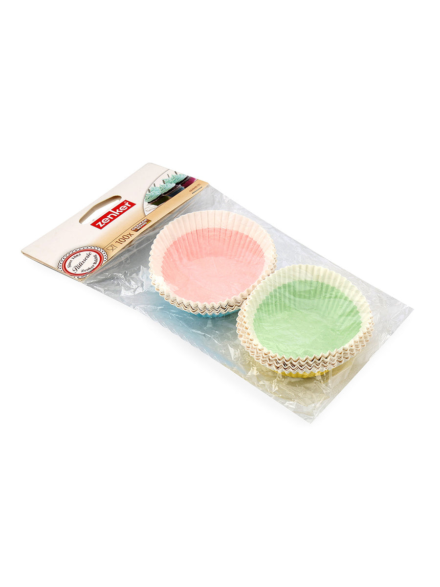 Muffin Baking Paper Set of 100 (Multicolor)