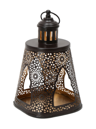 Pyramind Candle Stand (Brown)