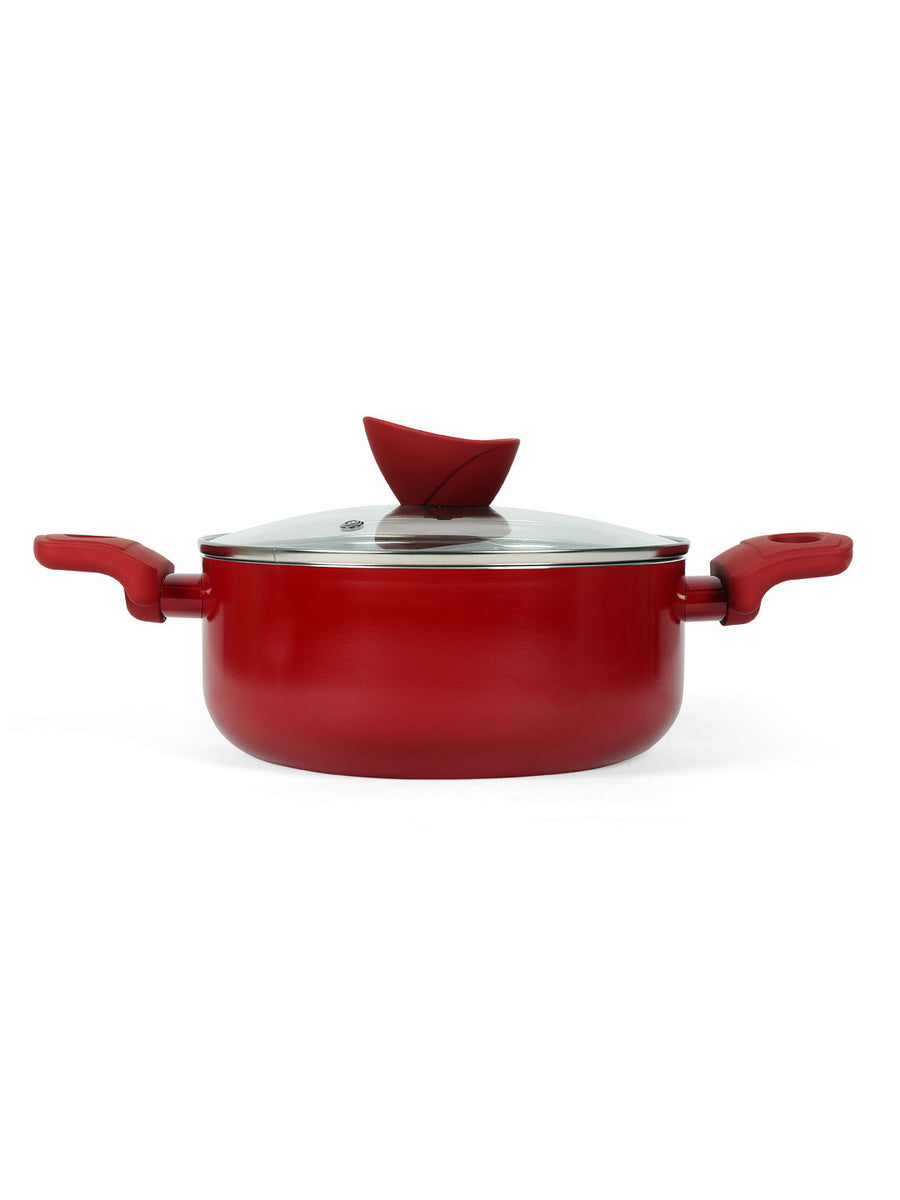 Bellini Casserole With Lid 24Cm (Red)