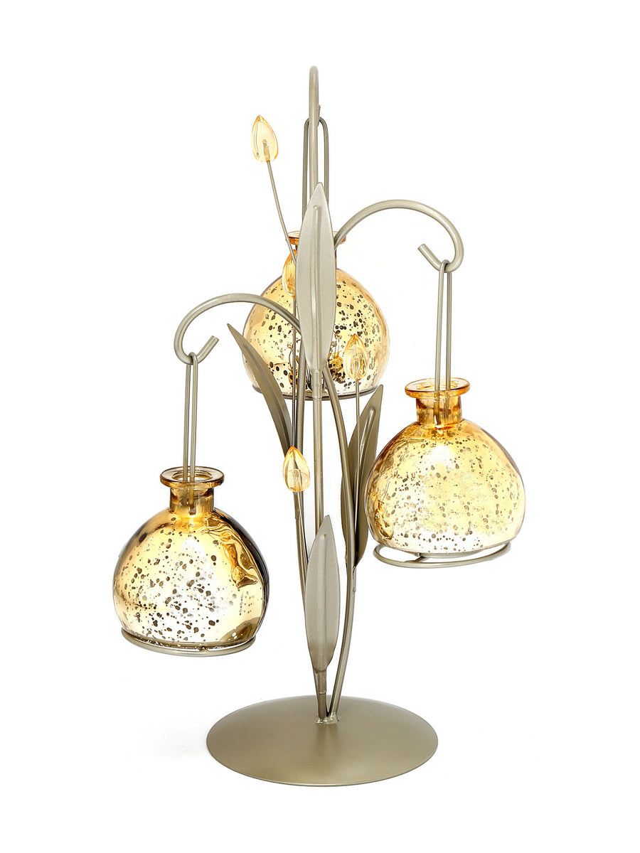 3 Lantern Ball Candle Stand (Yellow)