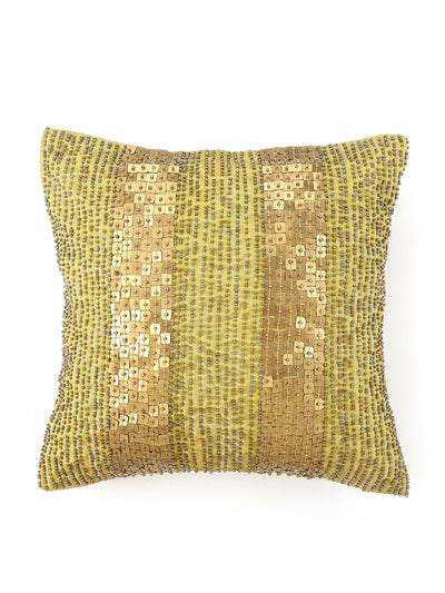 Bands Cushion Cover (Yellow)