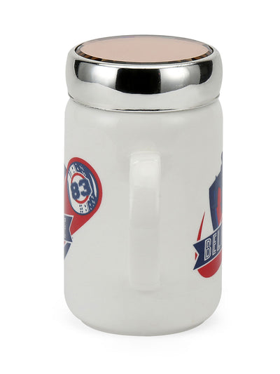 """83"" 500 ml Ceramic Mug with Lid (White)"