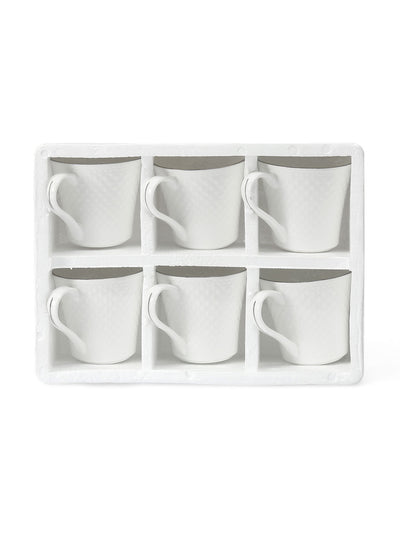 Platinum Casper 240 ml Coffee Mug Set of 6 (White)