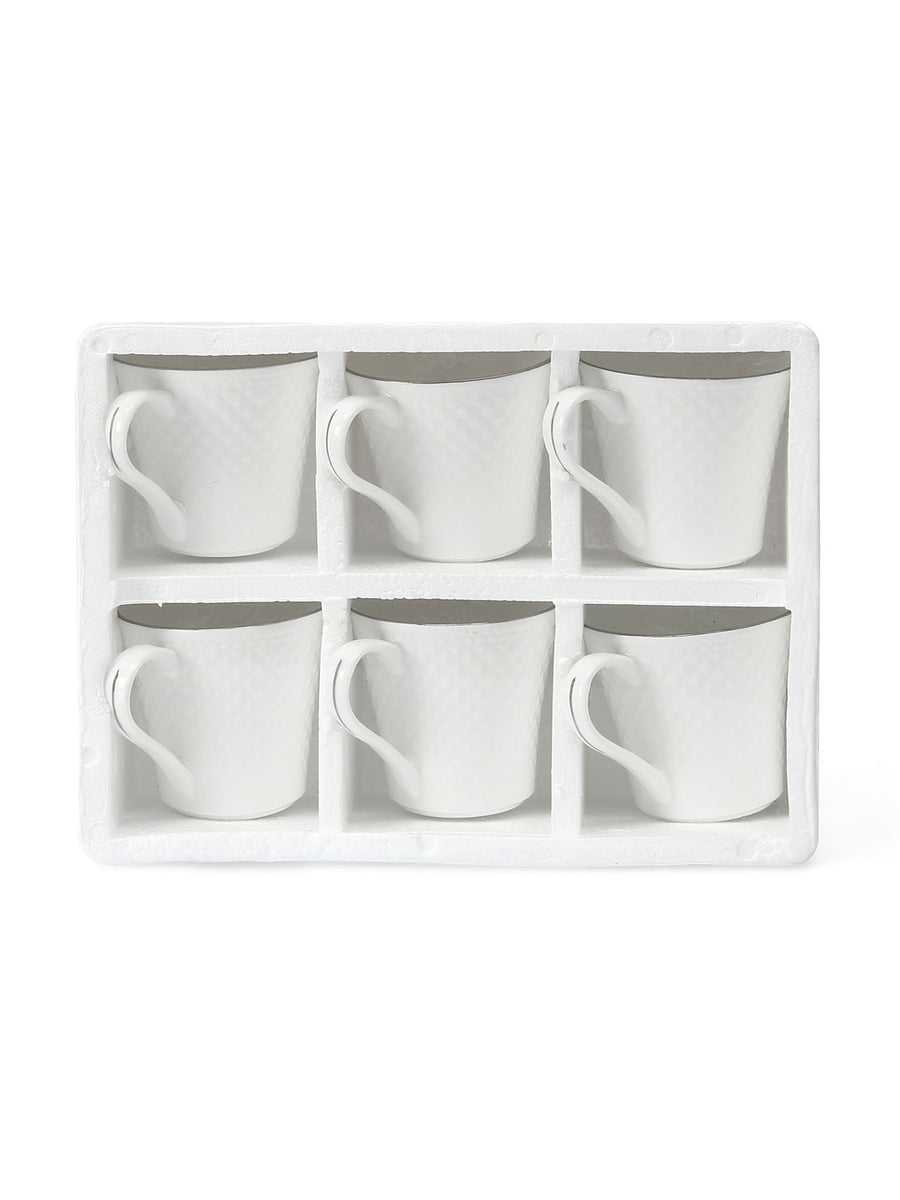 Coffee Mug Platinum Casper Set of 6 (White)