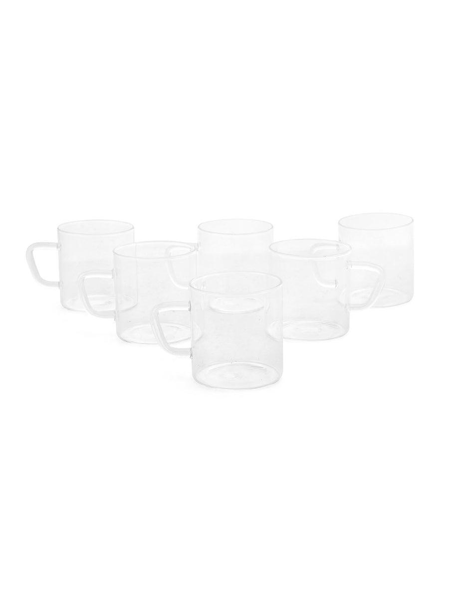 Classic 190 ml Mugs 6 Pieces (Clear)
