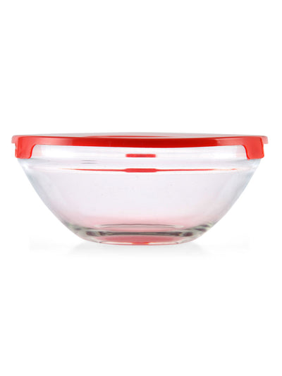 Bowls with Lids 5 Pieces (Red)