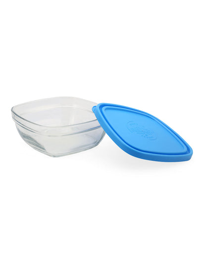 Square 610 ml Bowl with Lid (Clear)