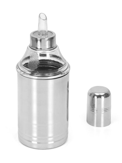 Ayodhya Bottle Shape 750 ml Oil Pourer (Silver)