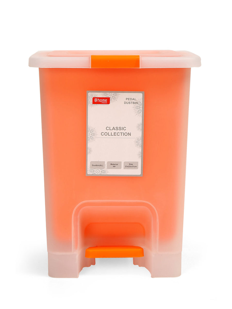 Classic Open Dust Bin 6 Ltr (Orange)