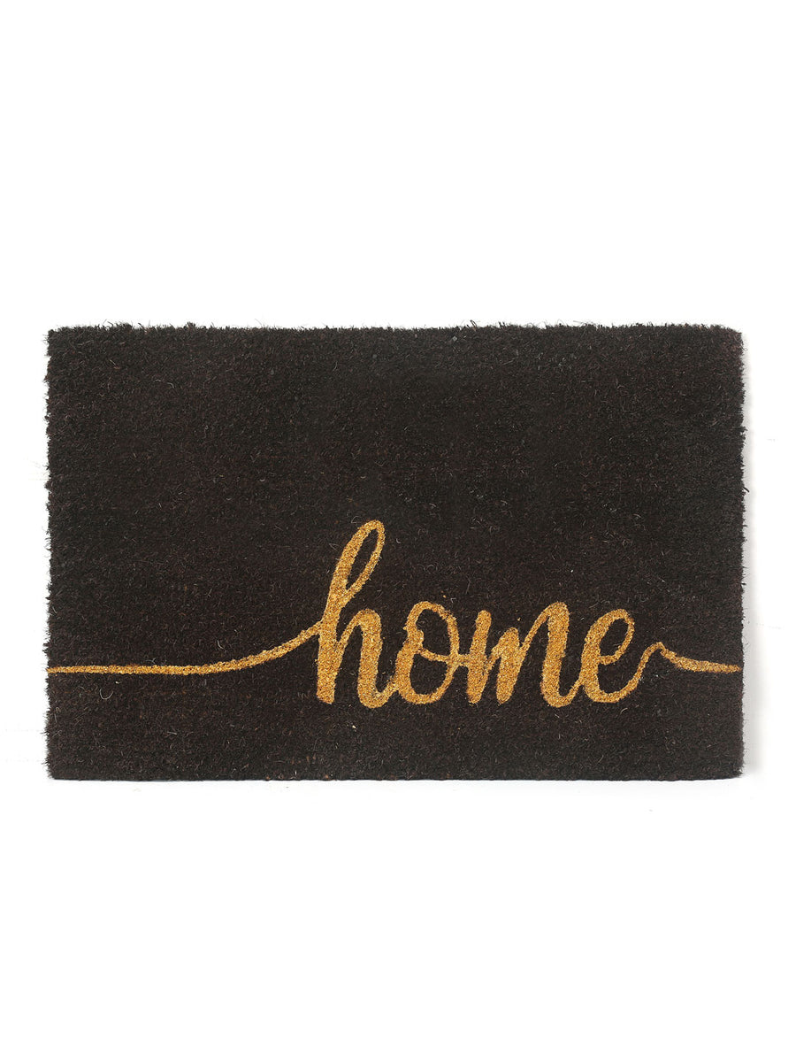 Home Glitter Coir Doormat (Brown)