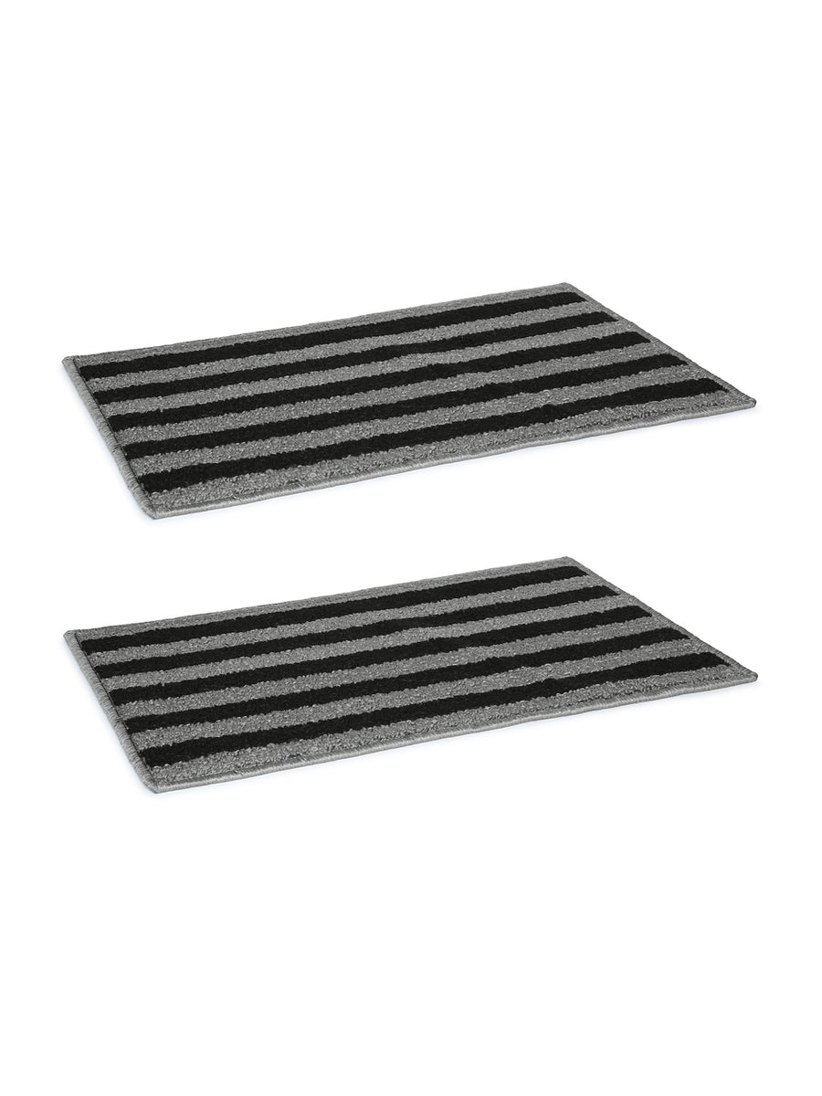 New Stripe Doormat (Grey & Black)