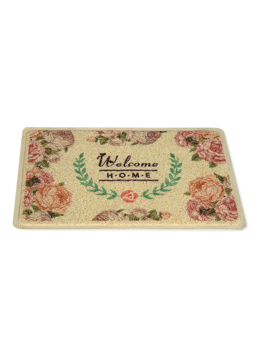 Floral Welcome Doormat (Multicolor)