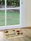 Rose Welcome Doormat (White)